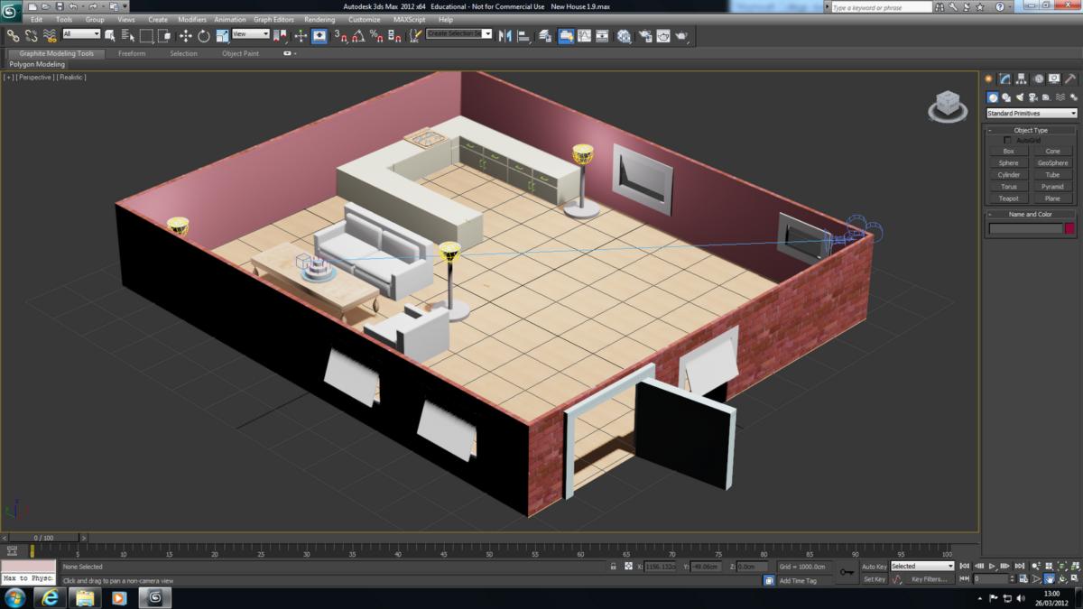 Определение бюджета проекта при проектировании в 3Ds Мах 8